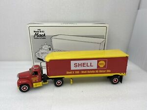 1/34 First Gear 1960 Mack B-61 Shell Oil Truck and trailer Part # 19-1392