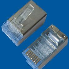 50pcs 1 Lot RJ45 Cat6 Cat6a Shield Shielding Network Connectors Plug Terminals