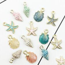 13pcs/set Mini Metal Sea Shell Conch Starfish DIY Jewelry Craft Accessories