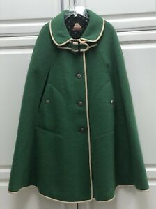 VINTAGE Womens Original Walkloden Boiled Wool Cotton Lined Cape from Austria