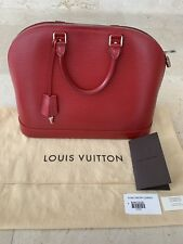 Louis Vuitton Alma GM Handbag- Epi Carmin