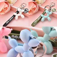 Creative Balloon Dog Keychain Soft PVC Keychains Key Ring Bag Car Fun Pendant