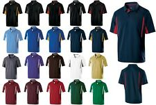 Men'S Lightweight, Wicking Poly Knit Polo, Contrast Stripes, Resists Snags S-4Xl