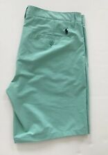 Size 35 Polo Ralph Lauren Men's Mint Green Chino Shorts Quick Dry Stretch Polyes