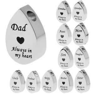 Blesiya Small Heart Print Always in My Heart Urn Ashes Keepsake Memorial
