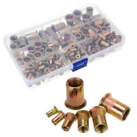 100PCS-300PCS Zinc Steel Metric Rivet Nut Kit Mixed Threaded Insert Nut M3-M12