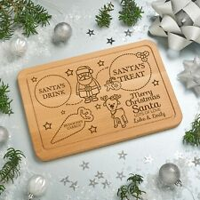 Personalised Santa's Treats Christmas Eve Wooden Board