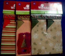 Christmas Gift Box Set 3 Pop Up Embellished Holiday Santa Workbench Lot