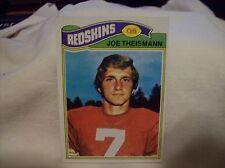1977 Topps Football Joe Theisman #74 - Redskins