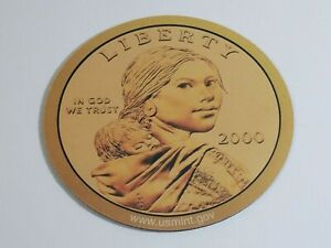 2000 Sacajawea Golden Dollar Coin MOUSE PAD US Mint | NEW Never Used Sacagawea