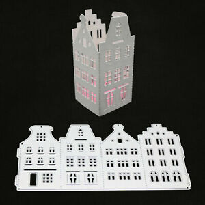 Punching template 3D house box Christmas wedding Easter birthday decoration DIY