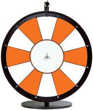 "24"" Orange and White Promotional Dry Erase Trade Show Prize Wheel"