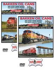 Bakken Oil Cans Set Vol 1 & 2 DVD BNSF CP Canadian Pacific DMV&W NPR ND