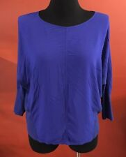 Two By Vince Camuto Striking Blue Batwing Blouse Size Large #5