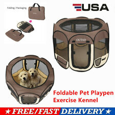 Foldable 600D Oxford Fabric Pet Playpen Exercise Kennel For Dog Cat Rabbit 5f