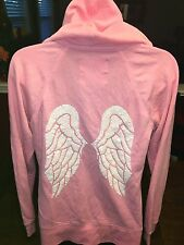 Victoria's Secret Pink Angel Wings Sequin Hoodie Sweatshirt Jacket M