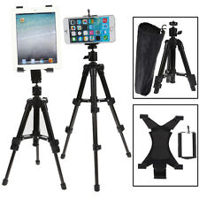 3in1 Universal Telescopic Phone Camera Tripod Stand Tablets Holder Mount w/ Bag