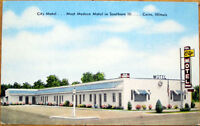 1940s Cairo, Illinois Postcard: ''City Motel'' - IL Ill