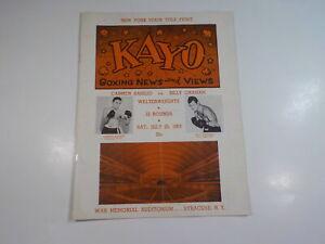 CARMEN BASILION vs BILLY GRAHAM Boxing Program 1953 Sports Fight Boxers VTG NR N