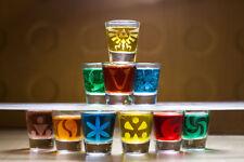 Zelda etched shot glass set of 10 fan art Ocarina Time windwaker wii u 3ds