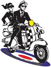Retro British 1960s Mods Ska Style Clothing Scooter Reggae Target Ladies T Shirt