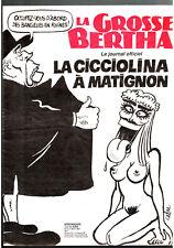 LA GROSSE BERTHA n°12 ¤ 1991 ¤ CABU / LA CICCIOLINA A MATIGNON