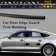 13Ft 4M BLACK Chrome DIY Car Door Edge Guard Moulding Trim Protector Strip New