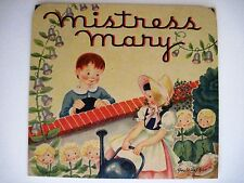 "Vintage Children's Book by Geraldine Clyne - Pop-out Book ""Mistress Mary"" *"