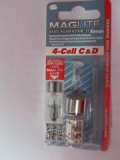 Maglite LMXA401 Magnum Star II Xenon 4-Cell C & D Bulb Genuine Mag  Replacement