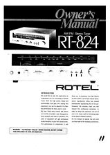 Rotel RT-824 Tuner Owners Manual