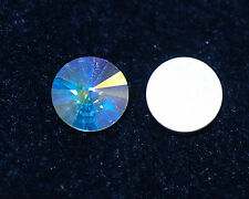 Cabochon Crystal vetro Cabochon 14 mm a partire da SILVER Foiled 2x * bacatus *
