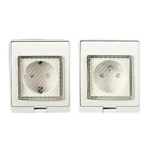 1pc Universal Waterproof Wall Socket Anti-UV Surface Mount Germany France Outlet
