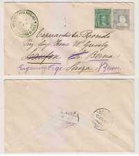 Chile 1908 Ps H&G B16 + Sc 68 Esperanto Envelope Santiago To Laufon Readdressed