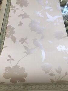 1 x Farleigh natural wallpaper birds butterflies *slight damage*