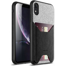 """For Apple iPhone XR 6.1"""" LCD Display Poetic Nubuck Cover【Thin TPU】Case Black"""