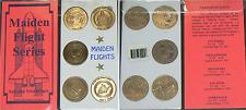 Maiden Flight Series:Set 5 1st Space Shuttle Flights Antiqued Solid Bronze Coins
