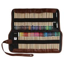 72 Color Art Supplies Colored Pencils Prof Drawing Set Sketching Carrying Bag