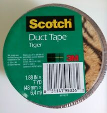 """Scotch Duct Tape - 1.88"""" x 7 Yd - Tiger Print, New Sealed, Free Shipping"""