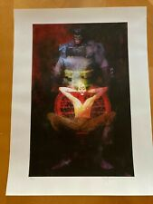 Bill Sienkiewicz The Last Crusade Batman Signed / Numbered Lithograph Sideshow