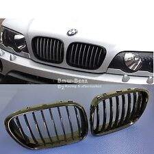 2000-2003 BMW E53 X5 FRONT GRILLE Front Hood Bumper Kidney Grill - Gloss Black