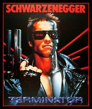 "4.5"" Schwarzenegger Terminator vinyl sticker. Classic 80's Sci-fi movie decal."