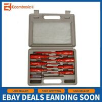 8pc Insulated Electricians Screwdriver and Mains Tester Set NEW + Case
