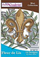 Anita Goodesign Embroidery Machine Design CD Fleur de Lis