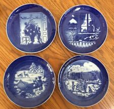 Lot 4 Royal Copenhagen Blue Christmas Plates 2000 2001 2002 2004 Denmark Lovely
