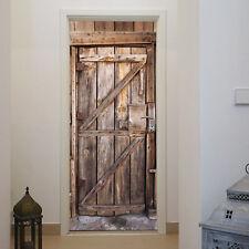 Türtapete Holz Tür 86 x 200 cm Eingang Bretter Vintage Rustikal Foto Tapete