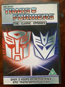 Transformers The Classic Episodes DVD Three Hours of Cult Kids TV Cartoons