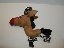 """DOG TOY 10"""" WILD HORSE WITH ROPE"""