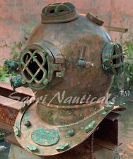 Antique Copper Divers Diving Helmet Old Navy Mark Morse Boston Brass Sca Helmet