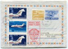 Romania 1971 First Flight Bucuresti-New York, PAN AM Airways,special stationery