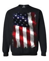 Large American Flag Patriotic Crewnecks 4th of July USA Flag Sweatshirts